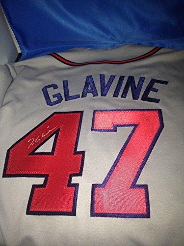 (Signed Tom Glavine Jersey - w COA - Autographed MLB Jerseys)
