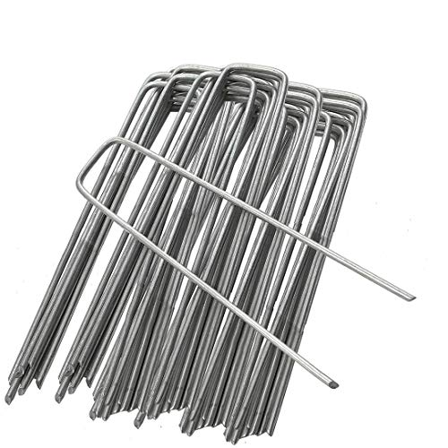 GardenPrime 2.8mm Premium U-shaped Garden Securing Pegs for securing weed...