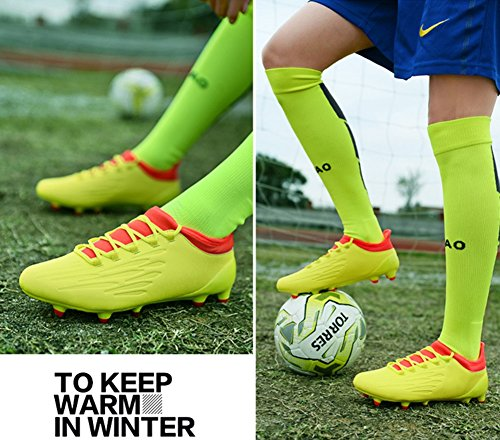 Spike Unisex Men Boy's Shoes Football Color 43 Lawn Outdoor Soccer Shoes HUAN Size Boots Training Professional Teenagers A 04qOW