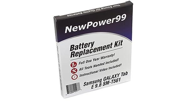 Amazon Com Samsung Galaxy Tab E 9 6 Sm T561 Battery Replacement Kit