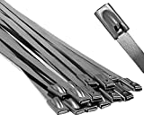 """14"""" Stainless Steel Cable Ties - 25 pieces"""