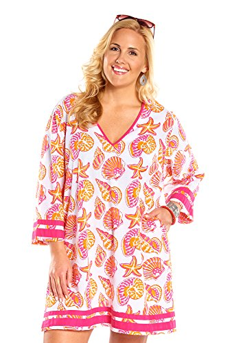 Always For Me Plus Size Sea Shore Tunic Coverup