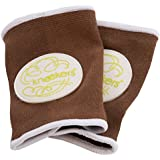 Ah Goo Baby Kneekers Baby Knee Pads for Crawling, Unisex, Lime Fizz Toffee Pattern, For Lean Legs