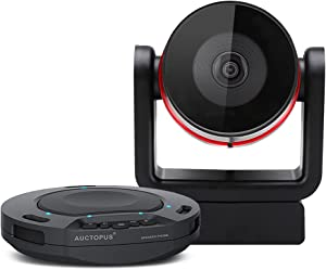 Runpu Video Conferencing System Bundle 1080P Conference Room Camera and Wireless Conference Speaker for 3 to 10 People Small Groups or Business Meeting Room(100-400 sqft)