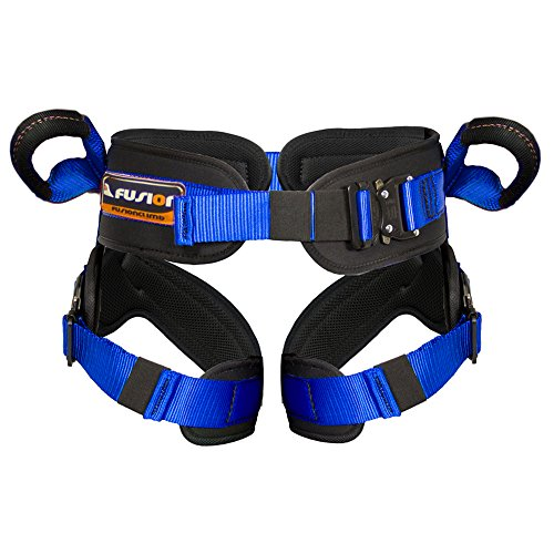 Fusion Climb Rebounder Padded Half Body Bungee Trampoline Harness Blue L-XL by Fusion Climb