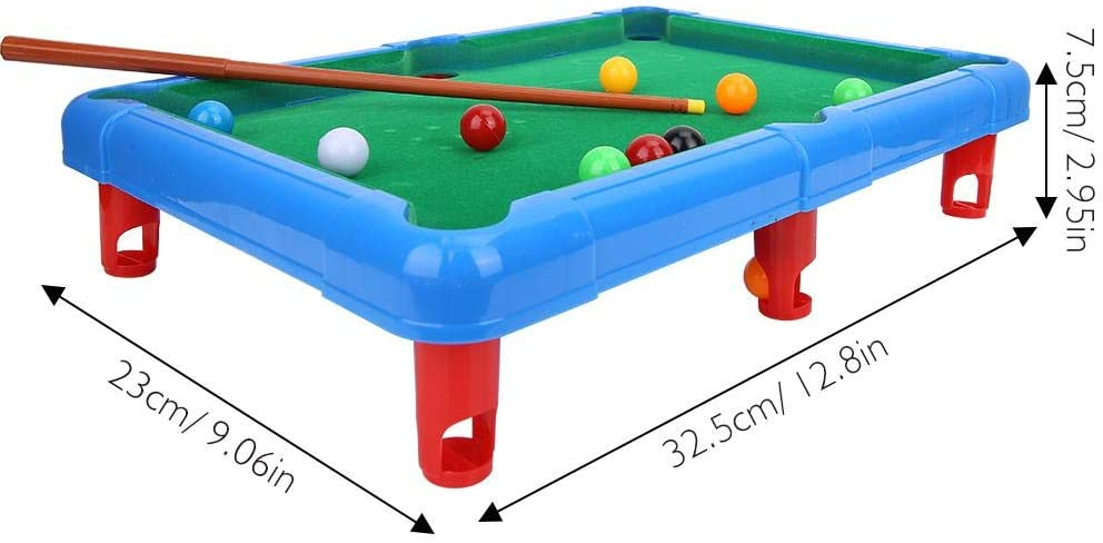 Fishlor Mini Pool Billiards, Mini Billiard Ball Table Game Snooker ...
