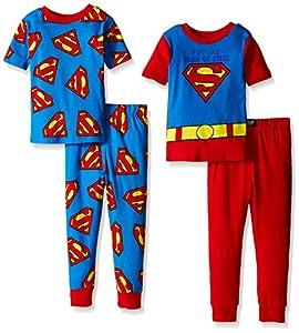 DC Comics Boys' Future Man of Steel Uniform 4-Piece Pajama Set