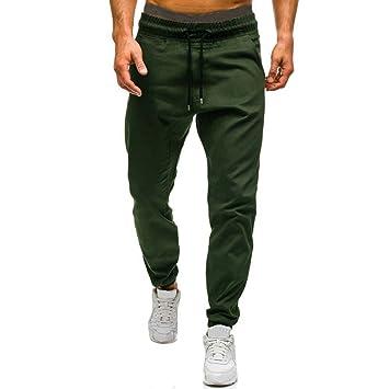 Mumustar Pantalones de chándal para Hombre, elásticos, Cintura con ...