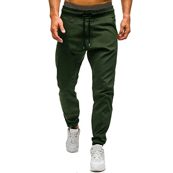 Pantalón Deportivo Pantalones Hombre Suelto Casuales Jogger Hip Hop Estilo  Urbano Chándal de Hombres con Cinturón Elástico Regular-Fit  Amazon.es  Ropa  y ... 551a51537b5d4