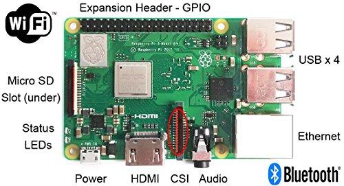 Raspberry Pi 3 B+ Kit - WiFi, Bluetooth, Raspbian, Wireless Keyboard, 16GB High-speed SD, 3A Power Supply, Clear Case by MBTechWorks (Image #4)