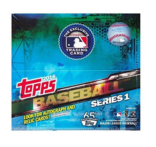 Topps 2016 Series 1 MLB Baseball Huge 24 Factory Sealed Retail Box with 288 (Retail Trading Card Box)