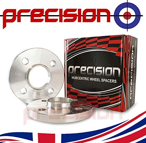 Precision 1 Pair of Hubcentric 15mm Alloy Wheel Spacers for Ḟiat Panda