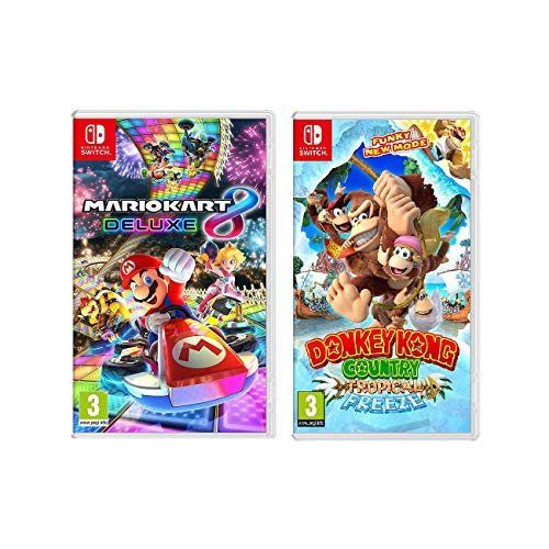 Nintendo Mario Kart 8 and Donkey Kong Video Games Switch