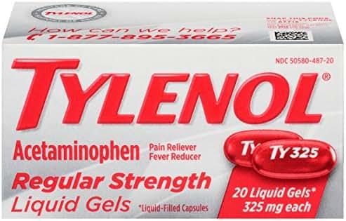 Pain Relievers: Tylenol Regular Strength Liquid Gels