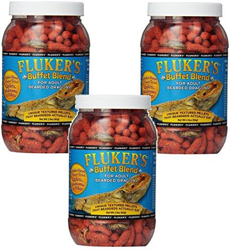 Fluker's Buffet Blend Adult Bearded Dragon Formula, 2.9 Ounce (3 Pack)
