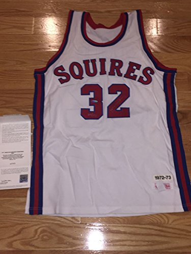 b0c16b851 RARE! Julius Dr. J Erving Signed Autographed Virginia Squires Mitchell and  Ness 1972-