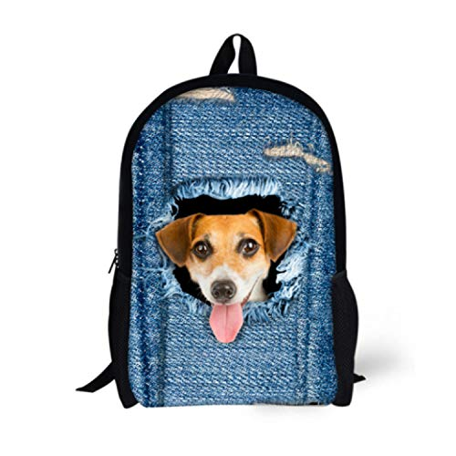 Cat Backpack Cute 3D Animal Denim Backpacks for Children Boys Girls Casual Kids School Bag Mochila Travel Backpack,SEASON ()