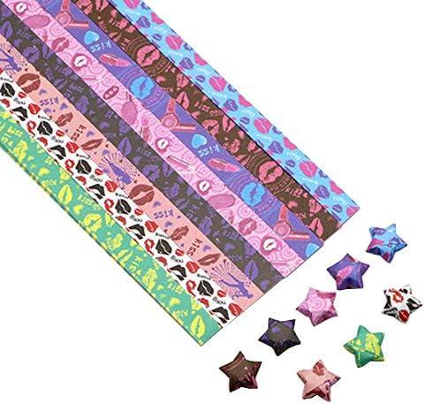 1300枚のカラフルな折り紙の星紙DIYのラッキースター紙片 #03