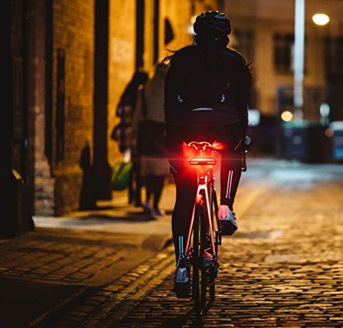 MojiDecor Fanale Posteriore per Bicicletta Impermeabile USB Ricaricabile Luce Posteriore Bici con LED Indicatore di Direzione 3 Modalità d'Illuminazione Lampada per Mountain Bike Bicicletta 3 spesavip