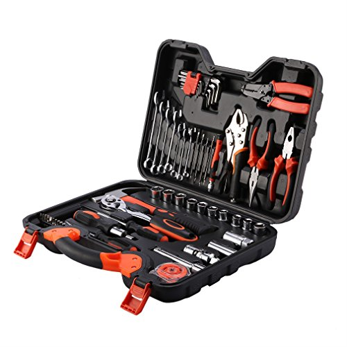ICOCO Precision Tool Kit for Auto Repair Home Maintenance with Plastic Toolbox Storage Case,55-Piece by ICOCO (Image #5)
