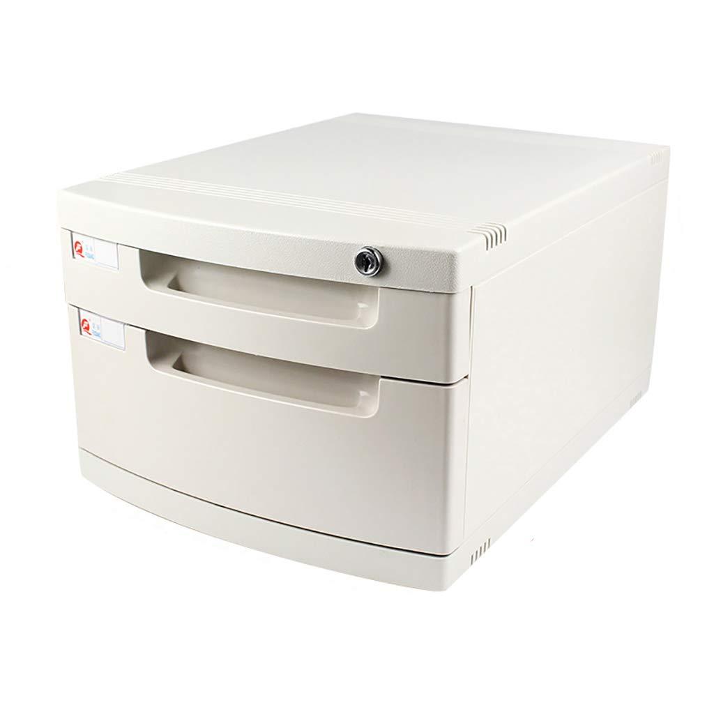 ファイルキャビネットプラスチックデスクトップロッカーファイルボックスラージ2/4フロアロック付き引き出しタイプ白 (サイズ さいず : A) B07MKRB932  A
