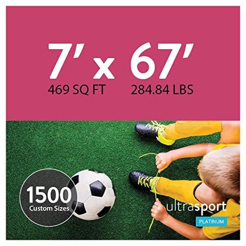 UltraHedge 7 x 67 Ft UltraSports Platinum Artificial Grass for Pet Sports Agility Indoor Outdoor Green Faux Fake Grass Decor Mat Rug Pad Carpet Turf | 469 SqFt | 1.63