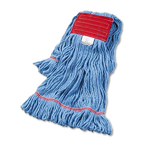 (Boardwalk 503BLEA Super Loop Wet Mop Head, Cotton/Synthetic, Large Size, Blue)