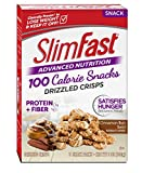 SlimFast Advanced Nutrition 100 Calorie Snacks, Drizzled Crisps, Cinnamon Bun Swirl, 5 Count Review