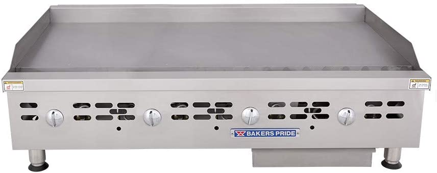 Bakers Pride - HDMG-2448 - Gas Countertop Griddle, 8 Burners