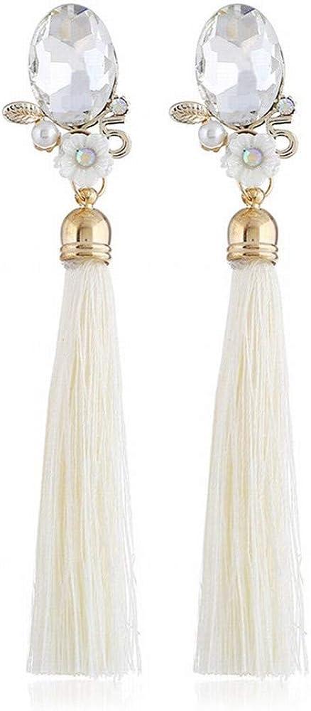 ZRDMN Pendientes de botón para mujer Pendientes de flores de piedras preciosas Perla tachonada Sra. Pendientes