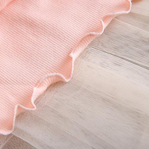 Långärmad Babykläder, Egmy Princess Flickor O-ringad Balklänning Mesh Klänning Rosa