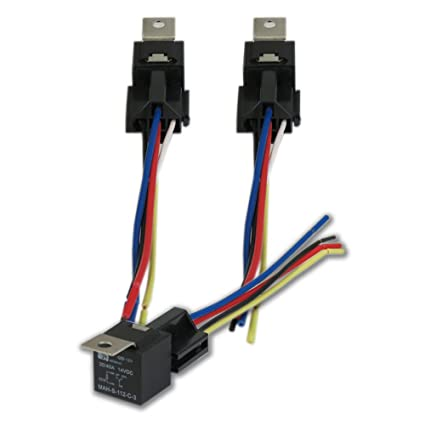amazon com 12v 30 40 amp relay \u0026 wire harness spdt 40a (pack of 33 Prong Wiring Harness #17