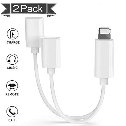 Amazon.com: Adaptador de auriculares Lightning para iPhone X ...