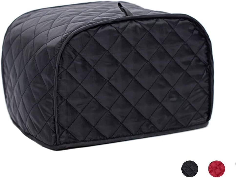 Toaster Cover 2 Slice,small Appliance Cover For Kitchen/Keep Toaster Free From Dust And Fingerprint (11.5w X 8d X 8h,Black)