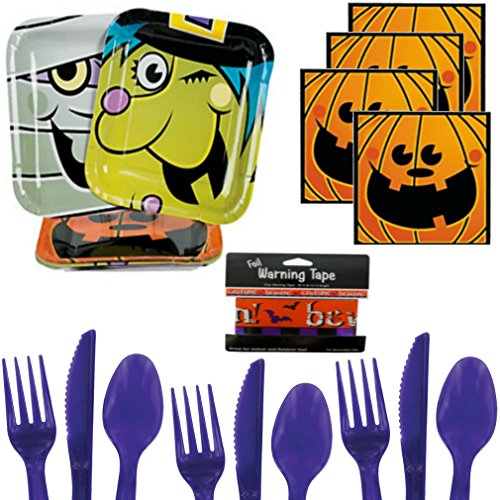 Halloween Party Supplies for 16 Guests - Mummy