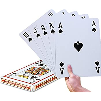 Super Big Giant Jumbo Playing Cards – Full Deck Huge Standard Print Novelty Poker Index Playing Cards - Fun for All Ages! - 8 x 11 inches