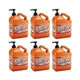 Permatex 25219 Fast Orange Pumice Lotion Hand Cleaners, Citrus, Bottle with Pump, 1 gal (6 pack)