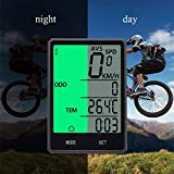 Wireless Bike Computer, Bicycle Speedometer,Cycling Odometer,Multifunction with Extra Large LCD Backlight Display Waterproof Ys-606c