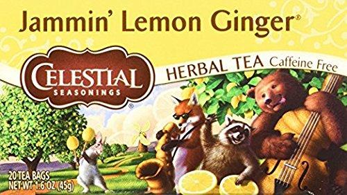 Celestial Seasonings Jammin' Lemon Ginger Herbal Tea, 20 Cou