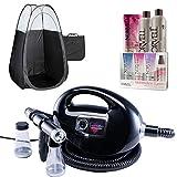 Black Fascination Spray Tan Machine, Black Tent, Norvell Tan Solution Sunless Kit
