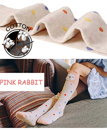 3d47c3338 Amazon.com  Girls Knee High Socks Animal Novelty Cute Fun Tight High Baby  Toddler Children Dress Cotton 6 Pairs (Animal1)  Clothing