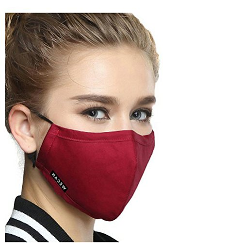 Ayygift-1-Pcs-Unisex-Solid-Color-PM25-Gauze-Mask-Activated-Carbon-Face-Mouth-Mask-Wine-Red