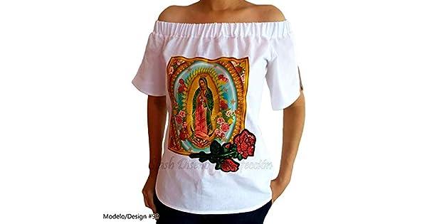 Amazon.com: Guadalupana Blouse Raw Coarse Cotton Fabric ...