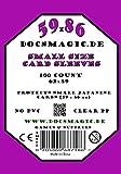 1.000 Docsmagic.de Small Size Card Sleeves Clear - 10 Packs - 59 x 86 Standard - 62 x 89 - Klar - Yu-Gi-Oh! by Docsmagic.de Supplies