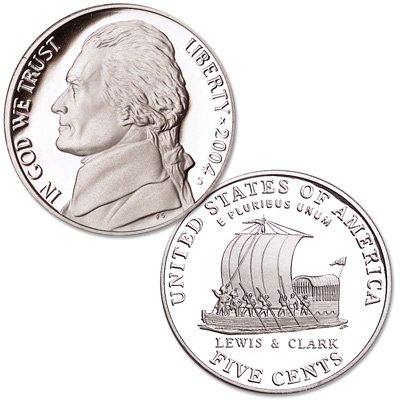 2004 S Proof Jefferson Keel Boat Nickel PF1