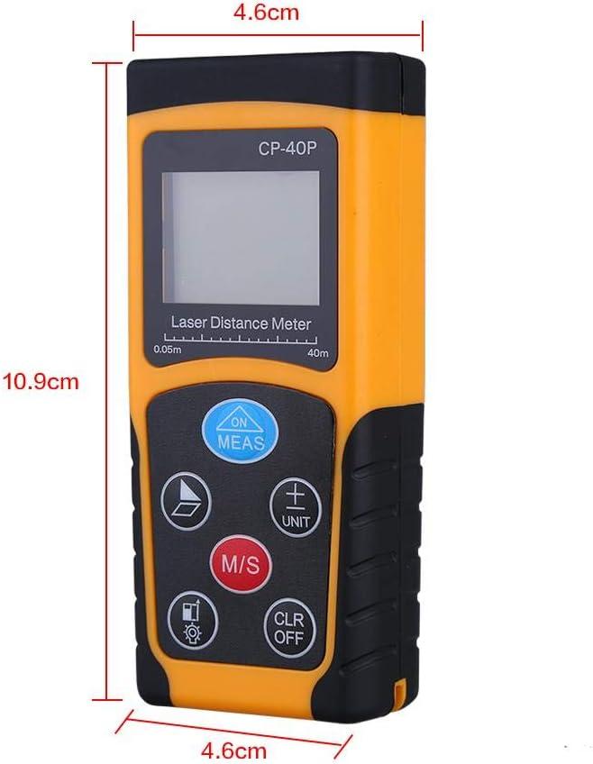 Rango de medici/ón de tel/émetro de Mano 0.05-100 m Precisi/ón 40m Socobeta Medidor de Distancia Digital /± 1.5 mm Dispositivo de medici/ón de Distancia
