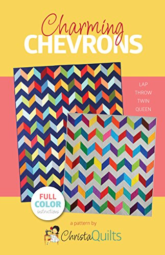 Christa Quilts Charming Chevrons Quilt Pattern 4 Sizes,Assorted,5.5