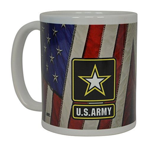 Womens Emblem - Army Coffee Mug United States Army American Patriot USA Flag Best Novelty Cup Great Gift Idea For Women Men USA American Military Veteran (Emblem)
