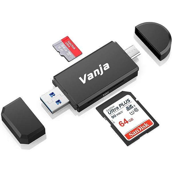 carte tf c est quoi Amazon.com: Vanja Type C Card Reader, 3 in 1 USB 2.0 Portable
