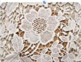 Victorian Bridal Wedding Dress Floral White Lace Fabric Of 1 Yard